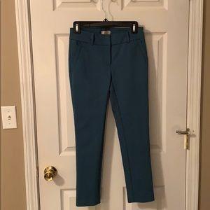 Size 0P Teal LOFT Skinny Ankle Pants